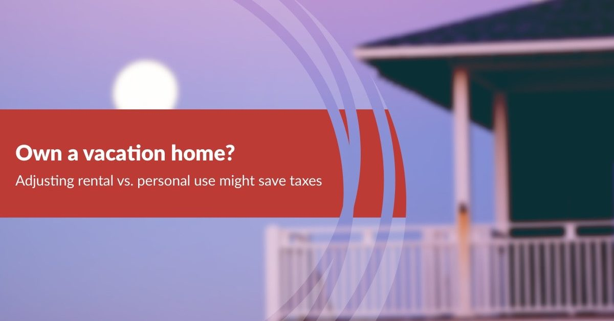vacation home tax save