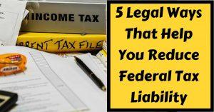 ways to reduce tax liability