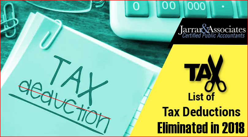 tax deduction eliminated