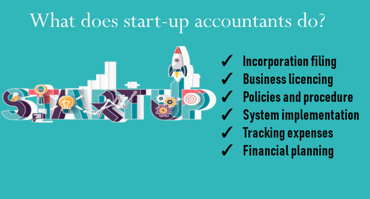 Business accounting services for startups
