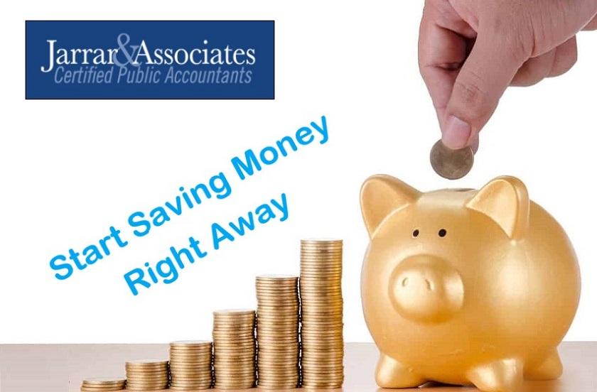 Start Saving Money Right Away