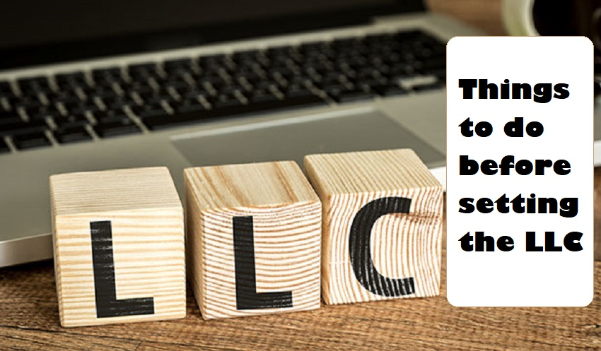 Things to do before setting the LLC