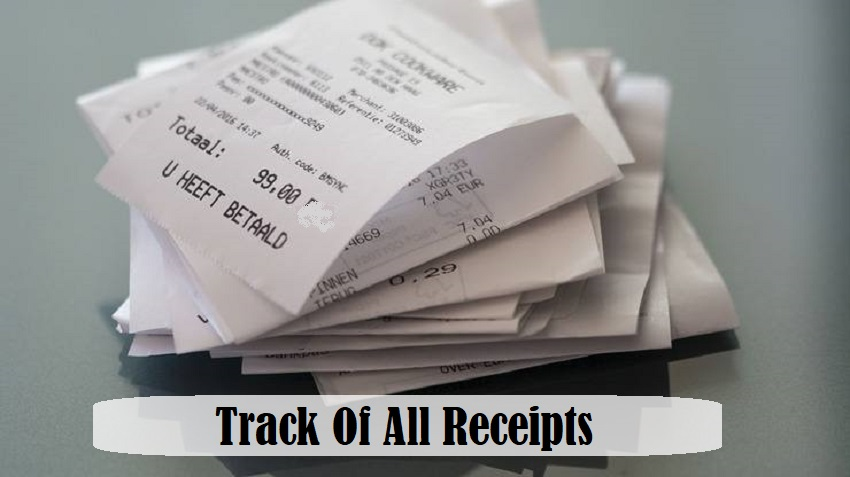 Failure To Keep All Proper Receipts