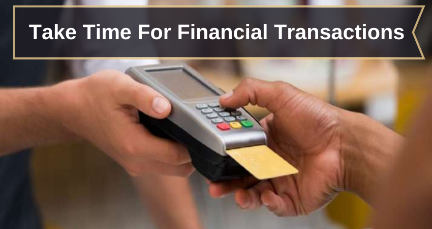 financial transactions