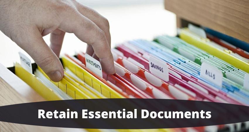 retain essential documents