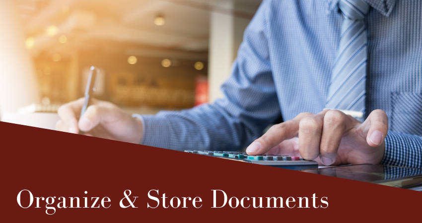 Organize & Store Financial And Accounting Documents