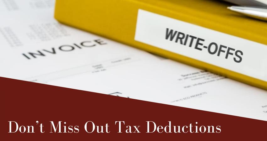 Don't Miss Tax Deductions